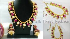 How To Make A Designer Silk Thread Necklace With Loreals At Home ... Bresmaid Jewelry Ideas How To Choose For Bresmaids Bold Design Ideas To Make Pearl Necklace Making With Beads Diy New What Is Projects Cool Home Luxury Under Make Embroidered Patches Blouses And Sarees At Jewellery Work Villa 265 Best Moore Jewelry Images On Pinterest Making Design An Ecommerce Website Xmedia Solutions Blog Decorating A Small Bedroom Decorate Really Learn How Jewellery Home With Insd Let Us Publish Backyards Woodworking Box Plans Free Download