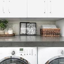 white and gray laundry room backsplash tiles design ideas