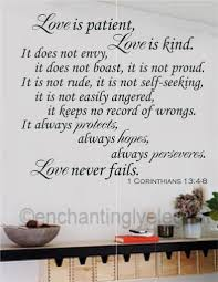 Ebay Wall Decoration Stickers by Love Is Patient Love Is Kind Bible Verse Vinyl Decal Wall Sticker