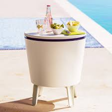 Outdoor Side Table / Beverage Cooler - The Green Head Patio Cooler Stand Project 2 Patios Cabin And Lakes 11 Best Beverage Coolers For Summer 2017 Reviews Of Large Kruses Workshop Party Table With Built In Beerwine Ice How To Build A Wood Deck Fox Hollow Cottage Diy Your Backyard Wheelbarrow Foil Smoker Outdoor Decorations Beer Wooden Plans Home Decoration 25 Unique Cooler Ideas On Pinterest Diy Chest Man Cave Backyard Our Preppy Lounge Area Thoughtful Place