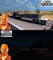 100 18 Wos Haulin Truck Mods REITNOUER BIGBUBBA FLATBED TRAILER 128X ATS Euro Simulator