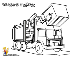 Construction Coloring Page Machine Roller Waste Truck