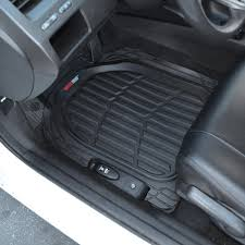 100 Heavy Duty Truck Floor Mats Motor Trend MT923BK FlexTough Contour LinersDeep Dish Rubber For Car SUV VanAll Weather Protection Black