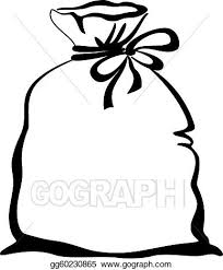 Empty Bag Vector Clipart Royalty Free GoGraph