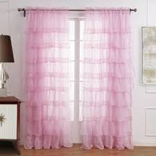 Pink Ruffled Window Curtains by Shop White Ruffle Curtains On Wanelo