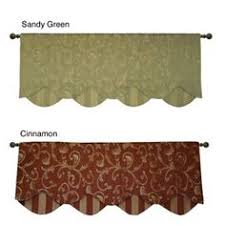 Country Curtains Greenville Delaware by Moire Stripe Scalloped Valance Country Curtains Kitchen