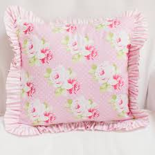 Pink Floral Pillow Nursery Pillow