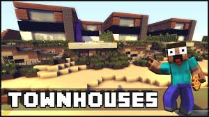 100 Modern Townhouses Minecraft