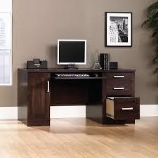 Sauder Office Port Executive Desk Instructions by Amazon Com Sauder 408291 Office Port Credenza Dark Alder