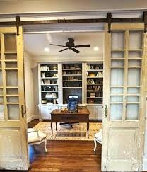 Office French Doors Dining Room With Barn Small