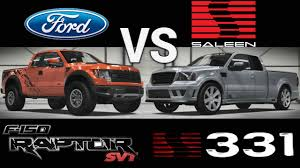 100 Ford Saleen Truck 2011 F150 SVT Raptor Vs 2008 S331 Supercab 3 Rounds