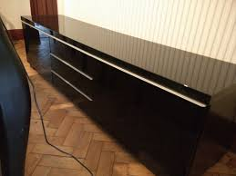 Ikea Besta Burs Desk Black by Ikea Besta Burs Black High Gloss Tv Bench Cabinet Unit In