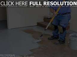 Sealing Asbestos Floor Tiles With Epoxy by Backyard Unfinished Basement Floor Ideas Diy Waterproof Flooring