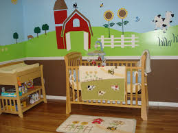 Wall Mural Decals Nursery by Amazon Com Nursery Wall Mural Farm Animal Wall Mural Stencil