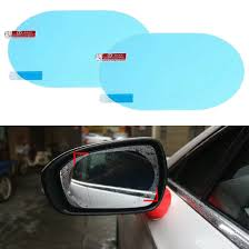 100 Blue Oval Truck Parts 1Pair Car Auto Anti Fog Rainproof Rearview Mirror