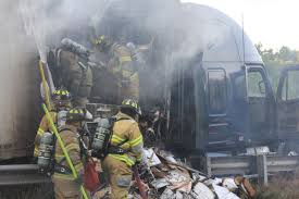 100 Cumberland Truck Equipment UPDATE Baconfilled Tractortrailer Burns For Hours In