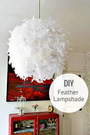 Regolit Floor Lamp Hack by A Simple Affordable And Beautiful Diy Feather Lampshade Pillar