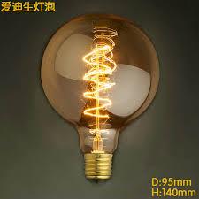 e27 base 40w g95 vintage edison bulb dimmable antique filament