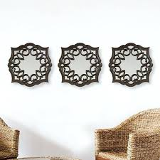 Wall Mirrors Bombaya 3 Piece Swirl Mirror Set 3079 After Coupons Regulary 8999