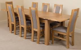 100 White Gloss Extending Dining Table And Chairs Sets Grey Solid Oak Round