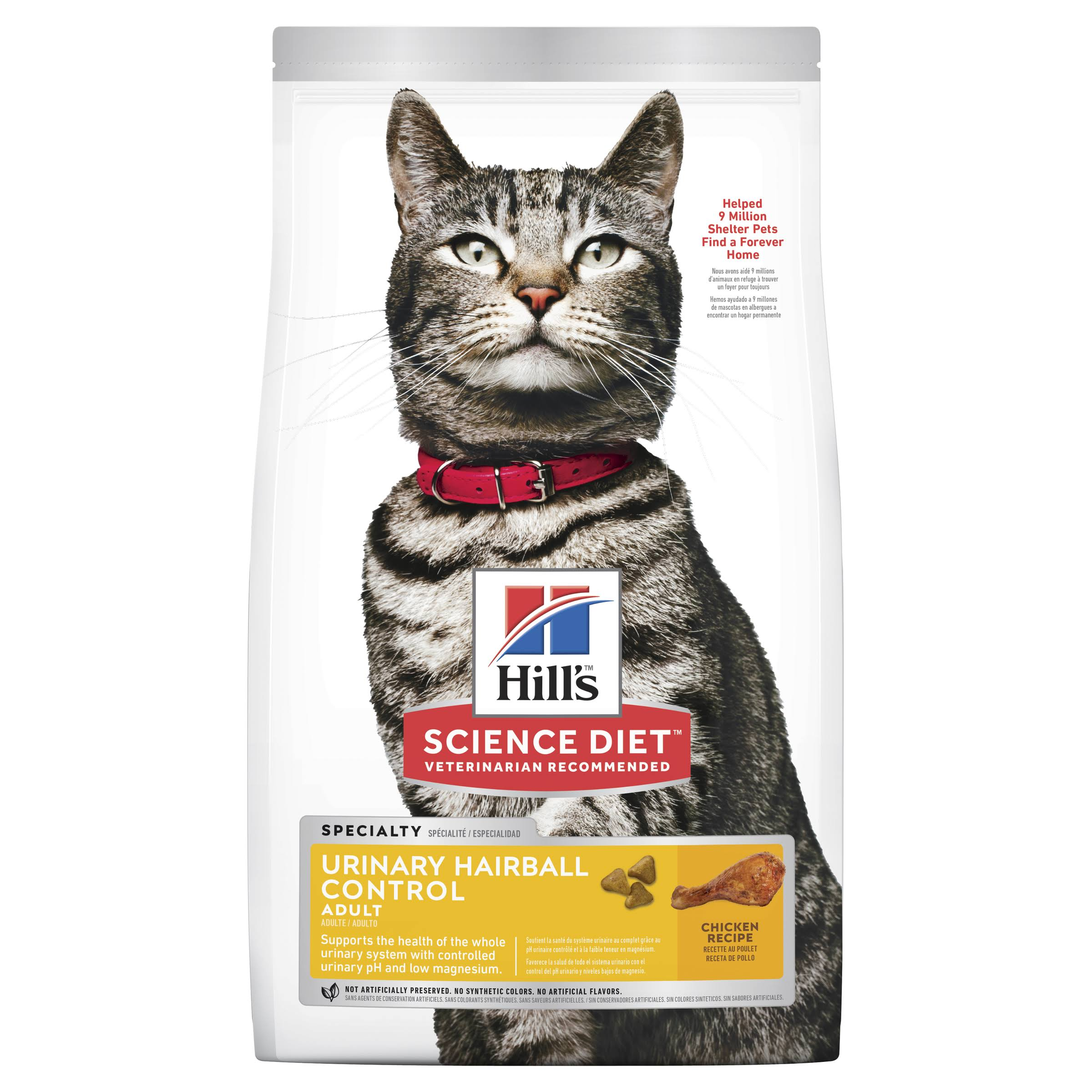 Hill's Science Diet Adult Urinary Hairball Control Cat Food - Chicken Recipe