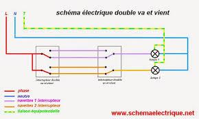 le va et vient schema electrique branchement cablage
