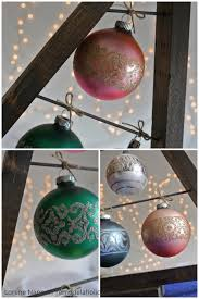 Vintage Glass Ornaments On A Knock Off Crate And Barrel Ornament Tree Display Remodelaholic