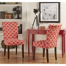INSPIRE Q Catrine Moroccan Pattern Fabric Parsons Dining Chair (Set ...