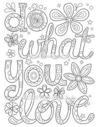 Do What You Love Coloring Page By Thaneeya McArdle From More Good Vibes Book Free PagesFree Printable