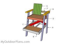 lifeguard chair plans myoutdoorplans free woodworking plans