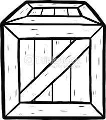 Wooden Box Vector Art