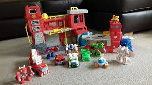 100 Rescue Bots Fire Truck Playskool Hereos Transformers Set In B28