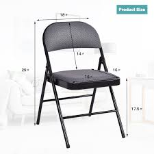 Costway Fabric Padded Folding Chair (Set Of 4) Mainstays Steel Black Folding Chair Better Homes Gardens Delahey Wood Porch Rocking Walmartcom Mings Mark Directors Details About Wenzel 97942 Banquet Camping Extra Large Blue Best Choice Products Set Of 5 Chairs Premium Resin 4pack In White Speckle Deluxe Pro Grid Mesh Seat And Back Ships 2 Per Carton Multiple Colors National Public Seating 50 Series All Standard With Double Brace 480 Lbs Capacity Beige 4 Stacking Kids Table Sets