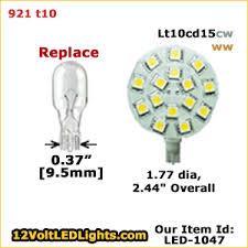 921 led bulb replacement lt10cd15cw or lt10cd15ww 12 volt led