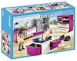 jeu de cuisine avec playmobil 5582 jeu de construction cuisine avec ilot amazon