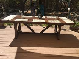 Build Large Coffee Table by Diy Large Outdoor Dining Table Seats 10 12 Hometalk
