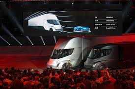 100 Semi Truck Mirrors Tesla Unveils Tractortrailer No Word Yet On Who Can Repair It