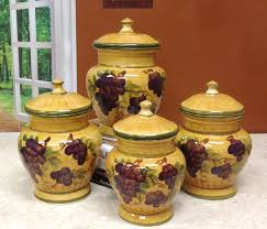 Wine And Grapes Kitchen Decor by Decorative Kitchen Canisters Best Decoration Ideas For You