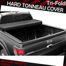Lock Tri-Fold Hard Solid Tonneau Covers For 2015-2018 FORD F-150 6.5 ...