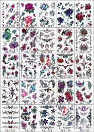 Wholesale 200pcs LotTemporary Tattoos Fashion Waterproof Body Tattoo Sticker Paper GlitterNontoxic High Quality