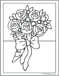 Flowering Coloring Pages Simple Flower Adult Customize Printable