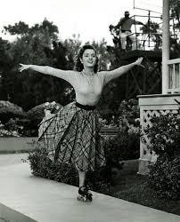 Debbie Reynolds On Skates Ca 1950s