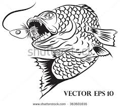 Fisherman Logo Design Stock Vector 363601616