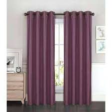 Plum Curtain Panels Faux Silk Grommet Extra Wide Curtain Panel