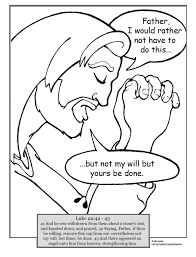 Free Coloring Pages Of Jesus Praying Page Prayer In