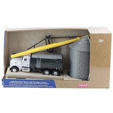 Peterbilt 1:32 Grain Box Truck With Bin And Auger Farm Toy Set ...