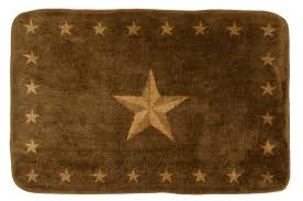 Texas Lone Star Chocolate Rug