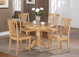5 PC Round Bristol Table Dinette Kitchen And 4