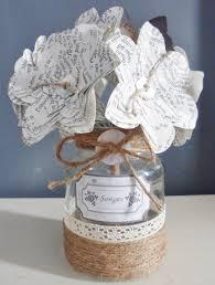 coeur de en pot bouquet de fleurs en papier et pot en verre songes origami