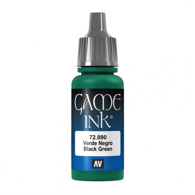 Acrylicos Vallejo Game Ink - 72090 Black Green